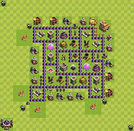 Base plan Town Hall level 7 for farming (variant 54)