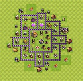 Base plan Town Hall level 7 for farming (variant 56)
