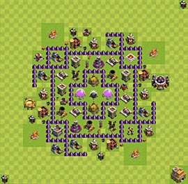 Base plan Town Hall level 7 for farming (variant 57)
