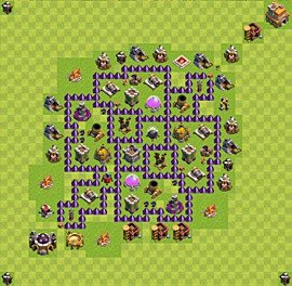 Base plan Town Hall level 7 for farming (variant 59)