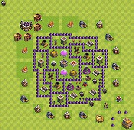 Base plan Town Hall level 7 for farming (variant 60)