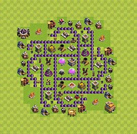 Base plan Town Hall level 7 for farming (variant 62)