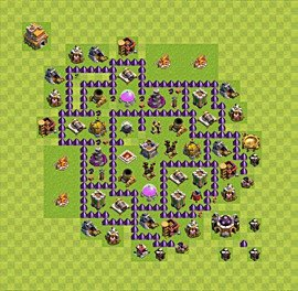 Base plan Town Hall level 7 for farming (variant 65)