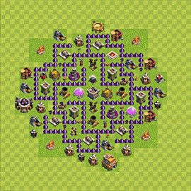 Base plan Town Hall level 7 for farming (variant 67)