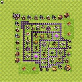 Base plan Town Hall level 7 for farming (variant 69)
