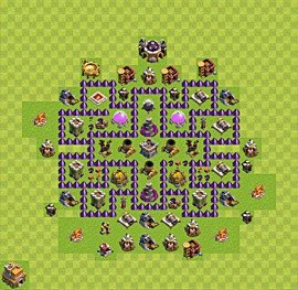 Base plan TH7 (design / layout) for Farming, #7