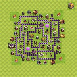 Base plan Town Hall level 7 for farming (variant 71)