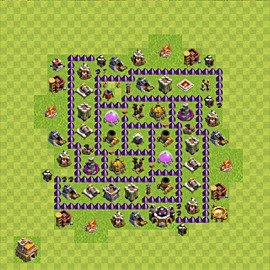 Base plan Town Hall level 7 for farming (variant 72)
