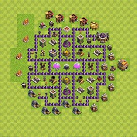 Base plan Town Hall level 7 for farming (variant 74)