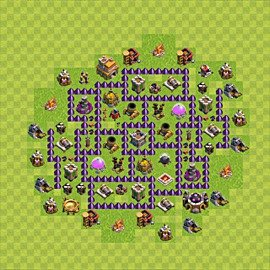 Base plan Town Hall level 7 for farming (variant 75)