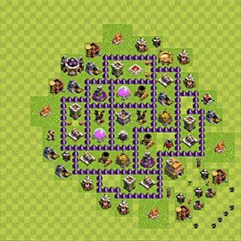 Base plan Town Hall level 7 for farming (variant 78)