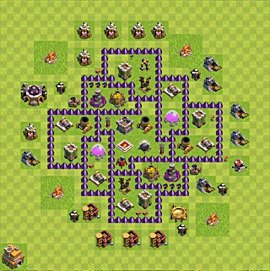 Base plan Town Hall level 7 for farming (variant 79)