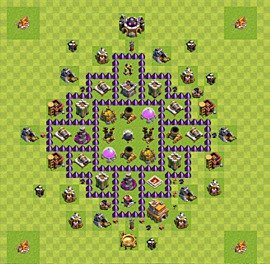Base plan Town Hall level 7 for farming (variant 8)
