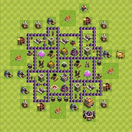 Base plan Town Hall level 7 for farming (variant 80)