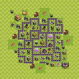 Base plan Town Hall level 7 for farming (variant 82)