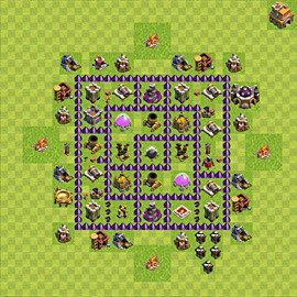 Base plan Town Hall level 7 for farming (variant 83)