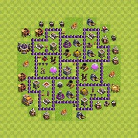 Base plan Town Hall level 7 for farming (variant 84)