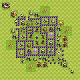 Base plan Town Hall level 7 for farming (variant 85)