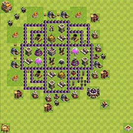 Base plan Town Hall level 7 for farming (variant 86)