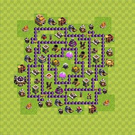 Base plan Town Hall level 7 for farming (variant 87)