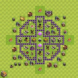 Base plan Town Hall level 7 for farming (variant 88)