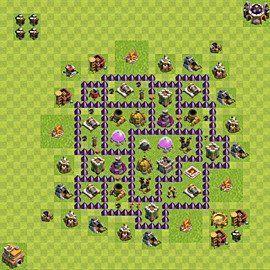 Base plan Town Hall level 7 for farming (variant 89)