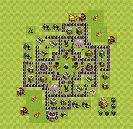 Base plan Town Hall level 7 for farming (variant 9)