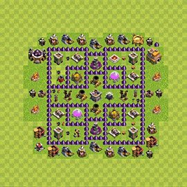 Base plan Town Hall level 7 for farming (variant 90)