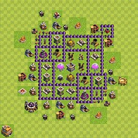 Base plan Town Hall level 7 for farming (variant 92)