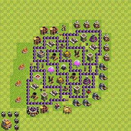 Base plan Town Hall level 7 for farming (variant 93)