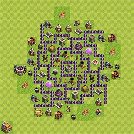Base plan Town Hall level 7 for farming (variant 94)