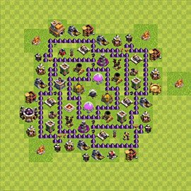 Base plan Town Hall level 7 for farming (variant 95)
