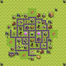 Base plan Town Hall level 7 for farming (variant 96)