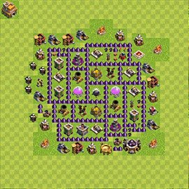 Base plan Town Hall level 7 for farming (variant 97)