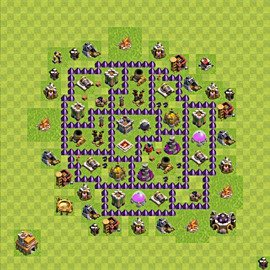 Base plan Town Hall level 7 for farming (variant 98)