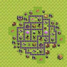 Base plan Town Hall level 7 for farming (variant 99)