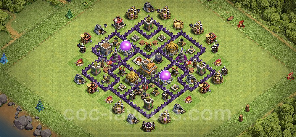 Base plan TH7 (design / layout) with Link for Farming 2020, #114