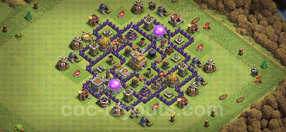 Base plan TH7 (design / layout) with Link for Farming 2021, #238