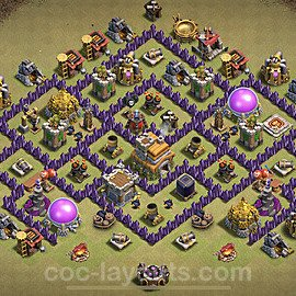 TH7 War Base Plan with Link, Copy Town Hall 7 Design 2020, #11