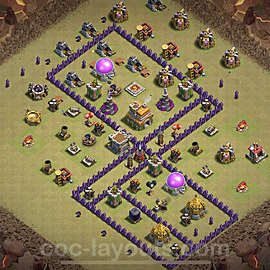 TH7 War Base Plan with Link, Copy Town Hall 7 Design 2020, #12