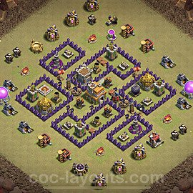 TH7 Max Levels War Base Plan with Link, Copy Town Hall 7 Design 2020, #14