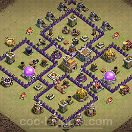 TH7 Anti 2 Stars War Base Plan with Link, Copy Town Hall 7 Design 2020, #15