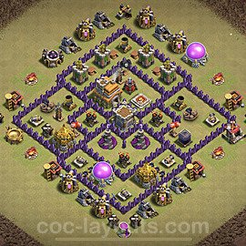 TH7 War Base Plan with Link, Copy Town Hall 7 Design 2020, #16