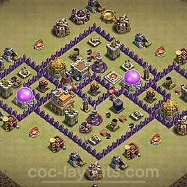 TH7 Max Levels War Base Plan with Link, Copy Town Hall 7 Design 2021, #25