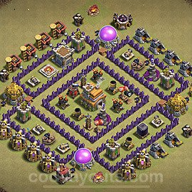 TH7 War Base Plan with Link, Copy Town Hall 7 Design 2021, #27
