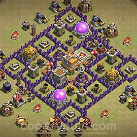 TH7 Max Levels War Base Plan with Link, Copy Town Hall 7 Design 2021, #29