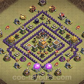 TH7 War Base Plan with Link, Copy Town Hall 7 Design 2021, #30