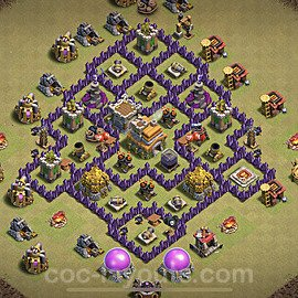 TH7 Max Levels CWL War Base Plan with Link, Copy Town Hall 7 Design 2021, #48