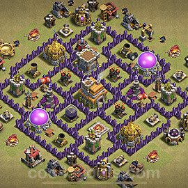TH7 War Base Plan with Link, Copy Town Hall 7 CWL Design 2021, #50