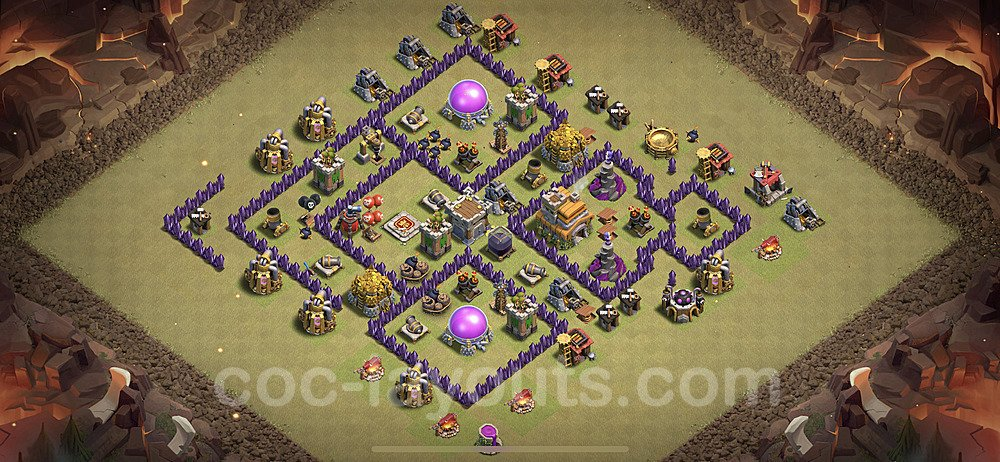 TH7 Max Levels War Base Plan with Link, Copy Town Hall 7 Design 2020, #7